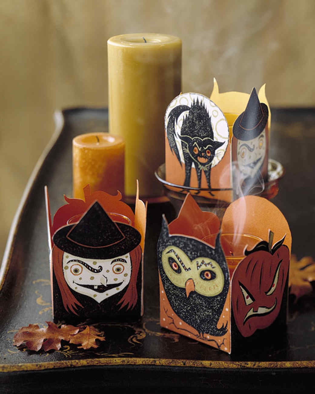 Creepy Clip-Art Candle Containers