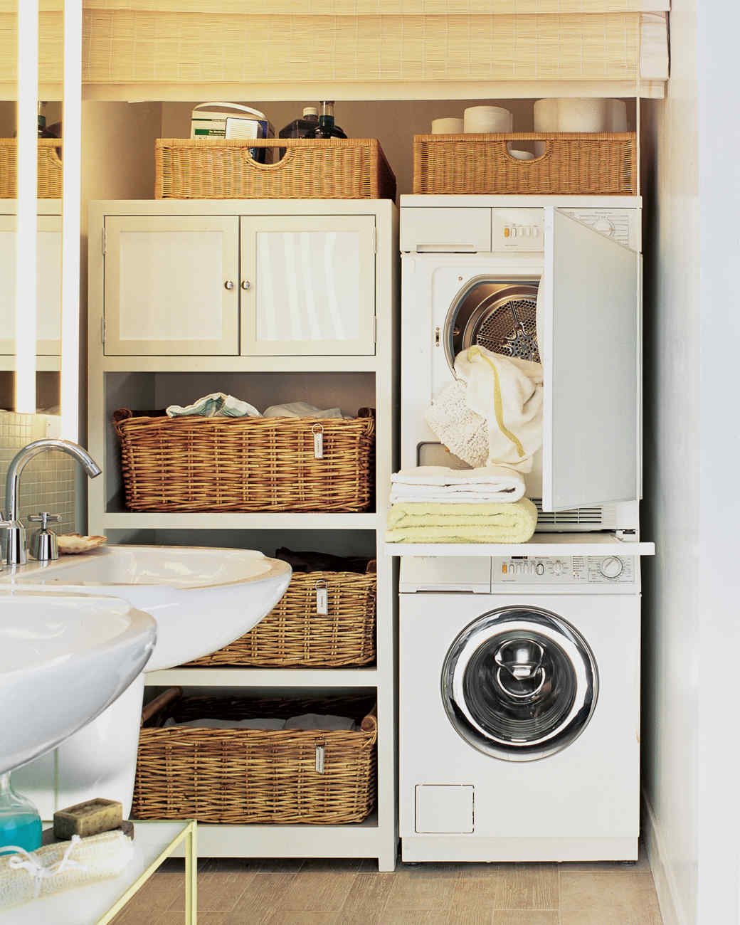12 essential laundry-room organizing ideas | martha stewart Bathroom Laundry Room Ideas