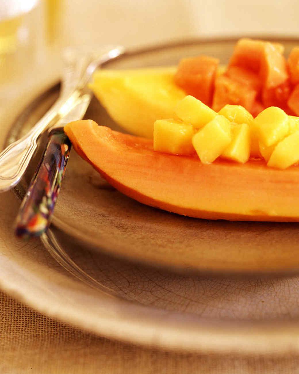 Pink and Orange Papaya Wedges
