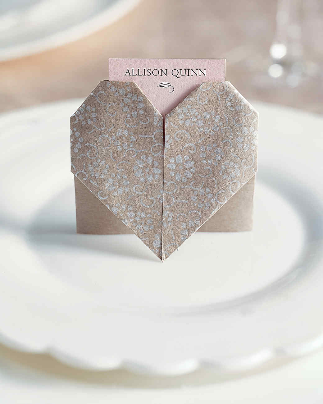 Paper-Heart Place Cards