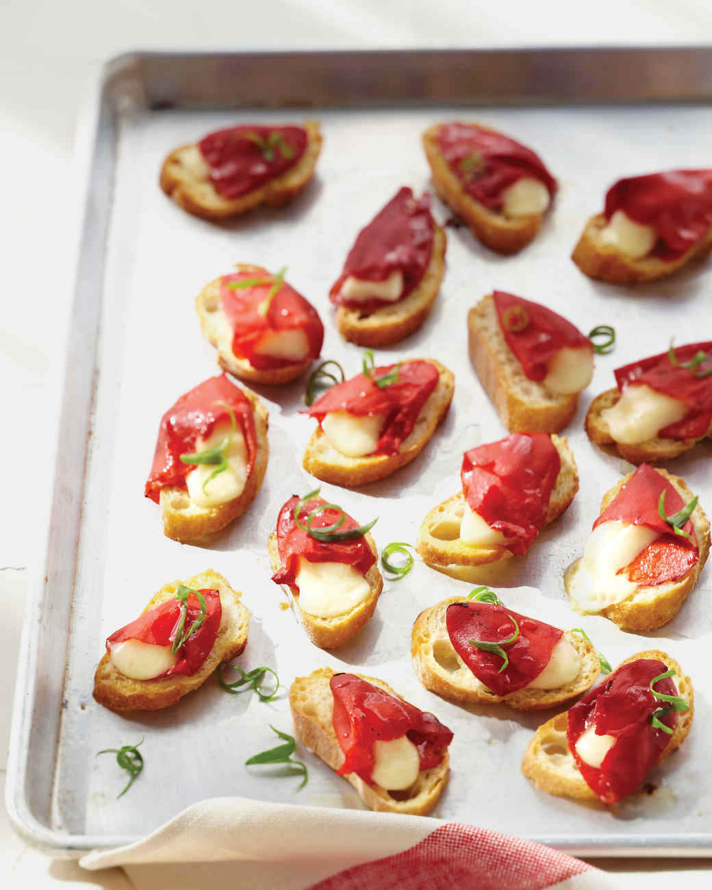Piquillo Pepper and Cheese Toasts