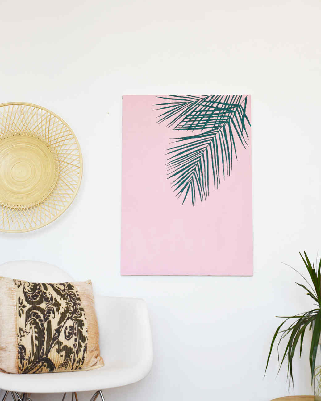 Leaf canvas art diy for How to make canvas painting