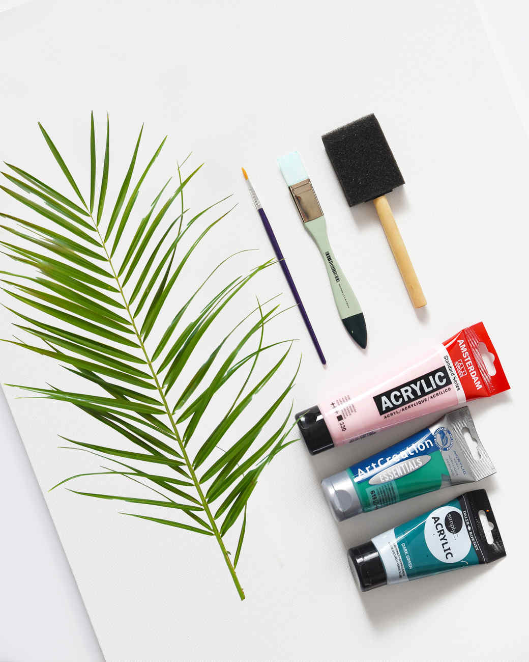 DIY Palm Canvas Art Materials