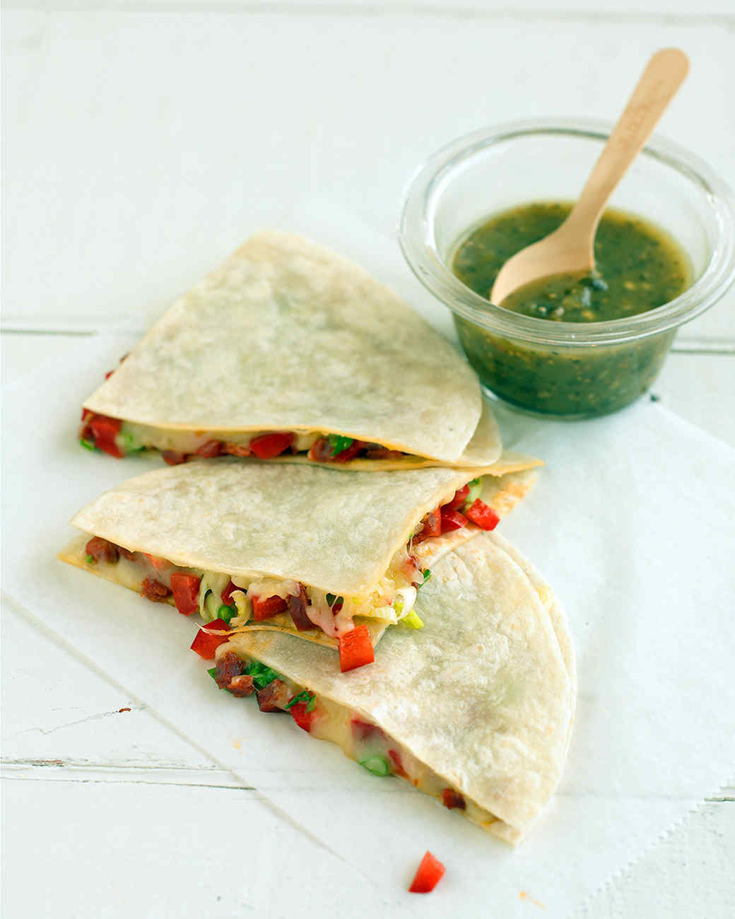 Chorizo and Red Pepper Quesadillas