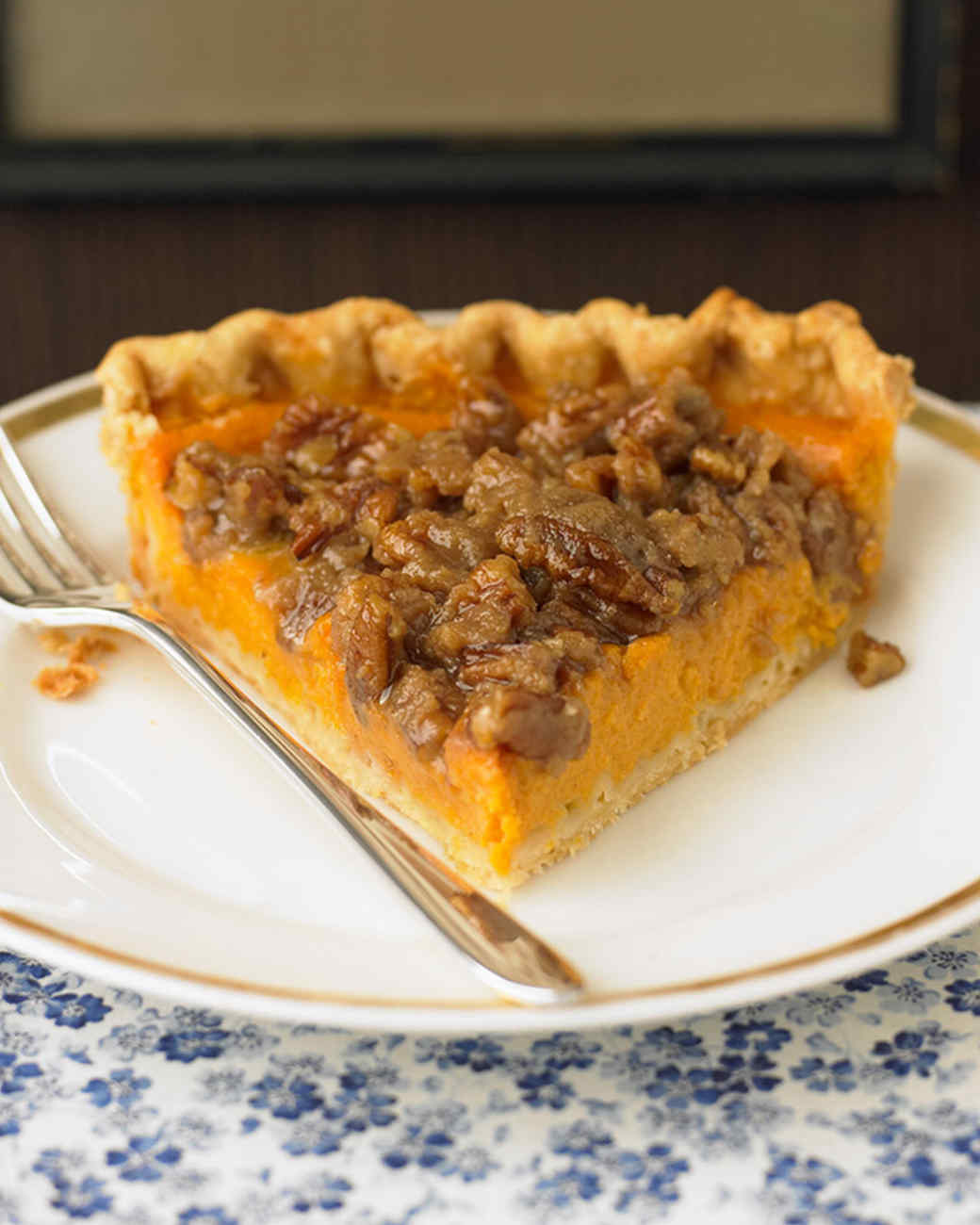Sweet Potato Pie with Pecan Topping