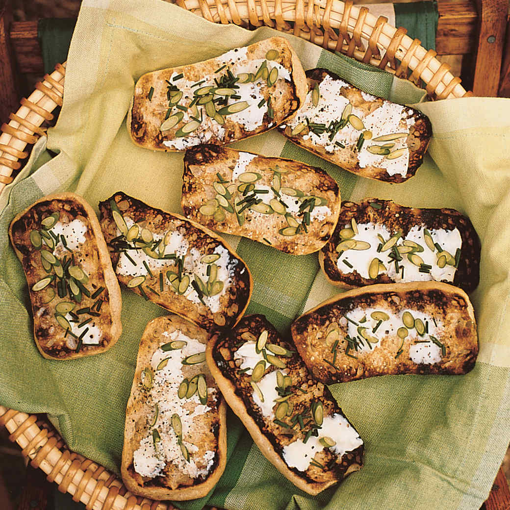 Garlic-Scape Toasts