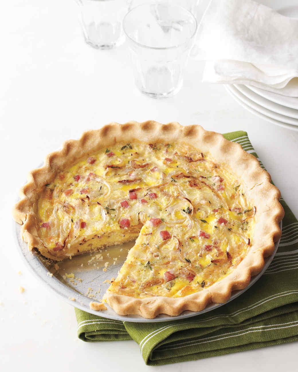 Ham-and-Swiss Quiche