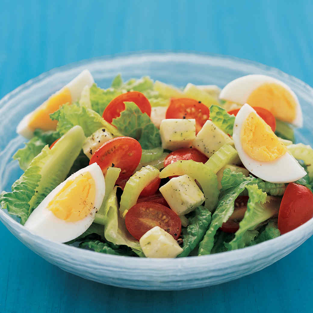 Green Salad With Hard Cooked Eggs