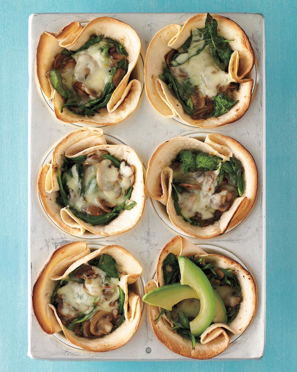 Mushroom-and-Spinach Cups