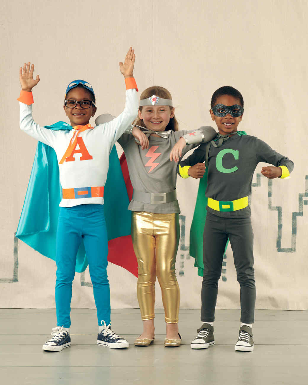 Superhero Costumes  sc 1 st  Martha Stewart & 8 Easy Costumes Kids Can Make Themselves | Martha Stewart