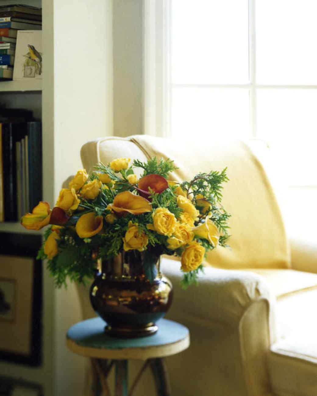 Reused Flower Arrangements