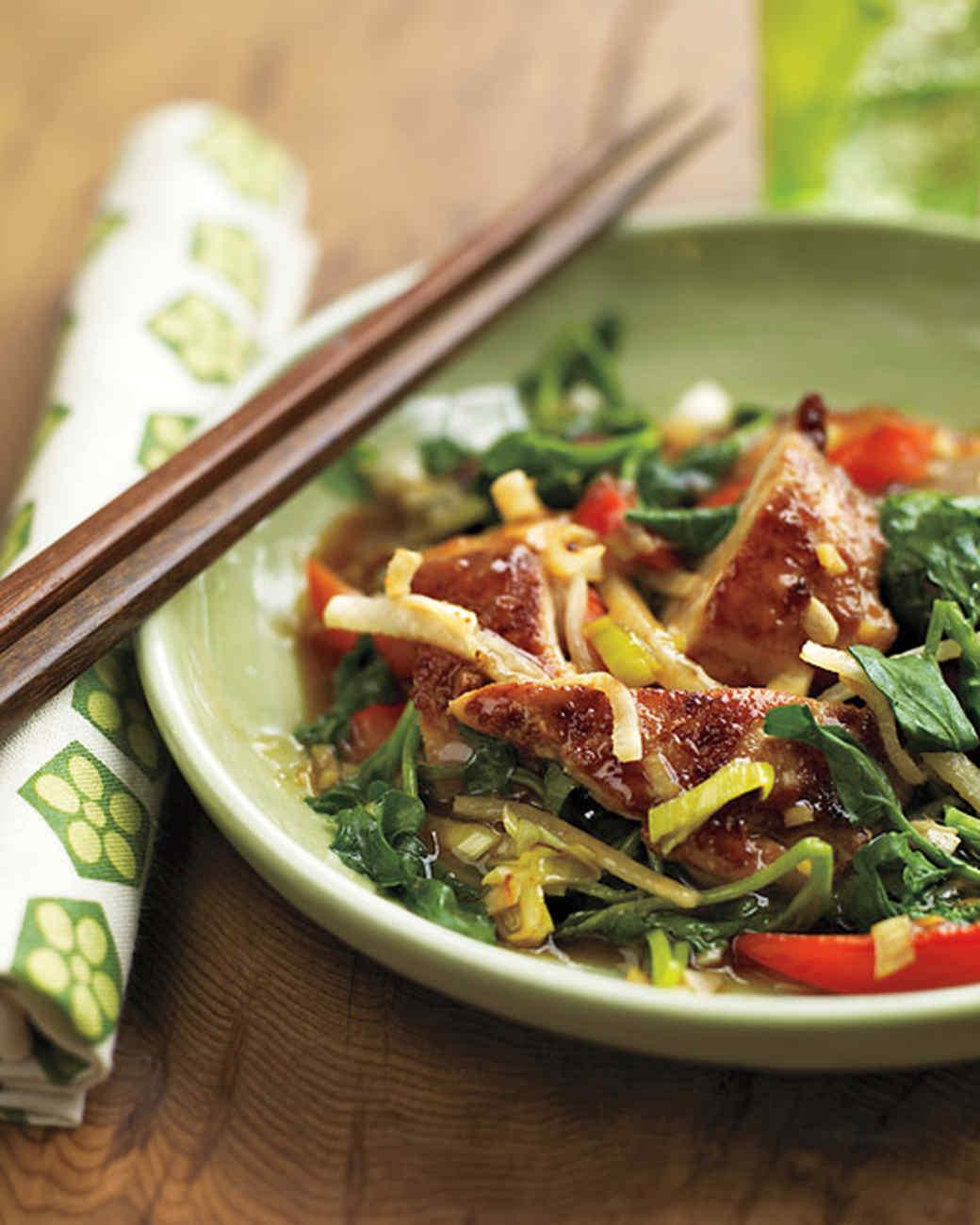 Stir-Fried Chicken with Watercress