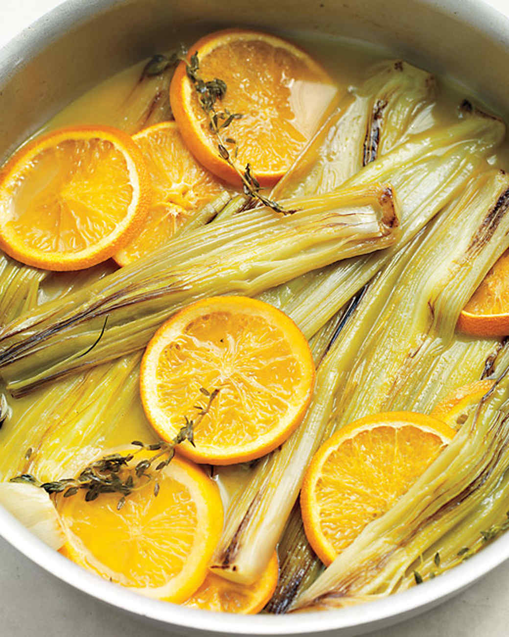 Braised Leeks with Orange