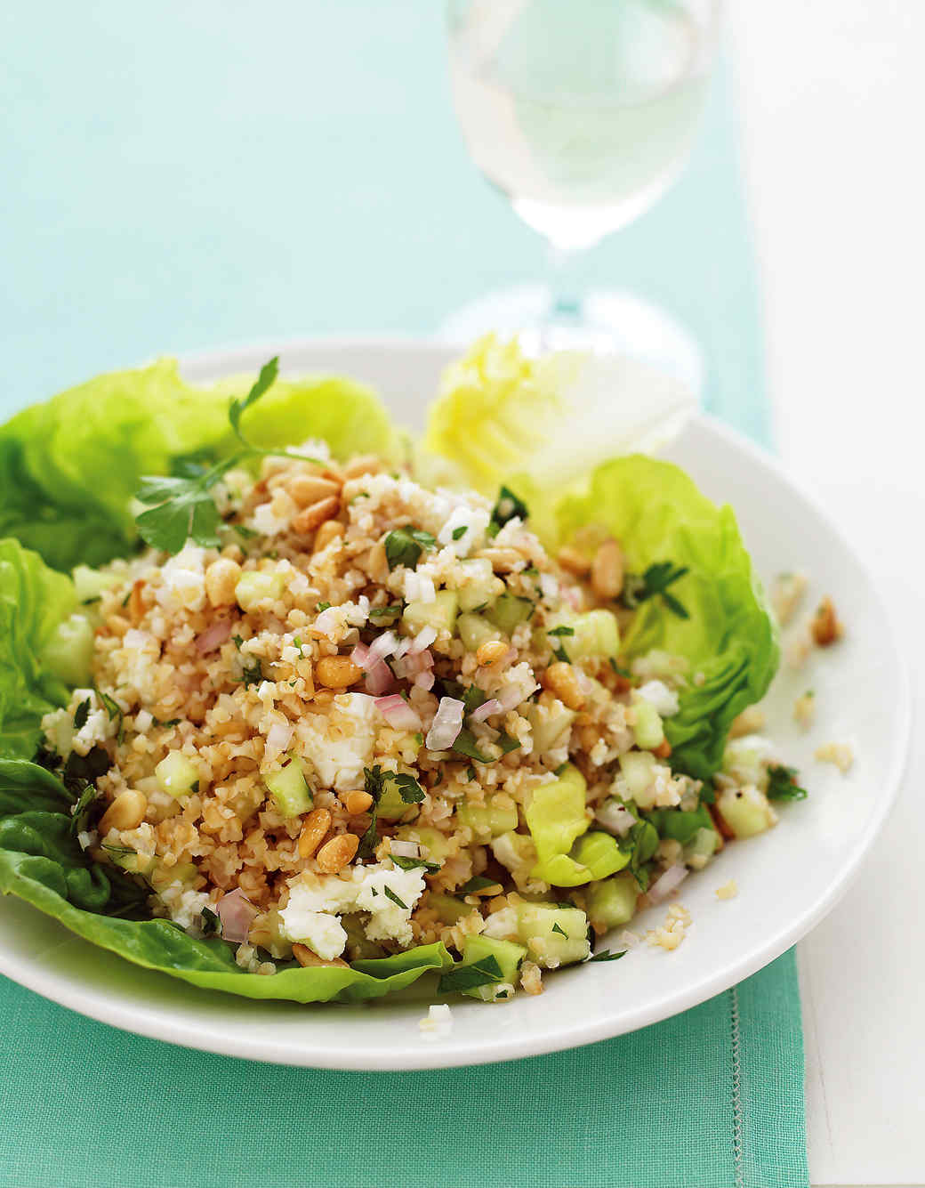 Bulgur Salad with Feta and Pine Nuts