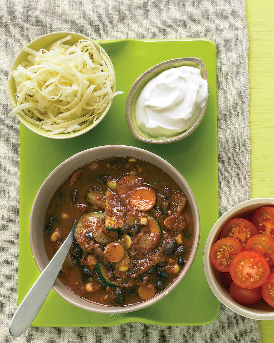 Meatless comfort food recipes martha stewart vegetarian black bean chili satisfy your desire for comfort food forumfinder Choice Image