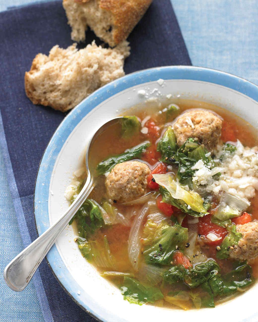 Light Italian Wedding Soup Recipe & Video | Martha Stewart