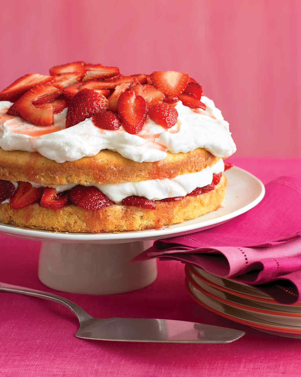 Strawberry Cream Cake Recipe Martha Stewart