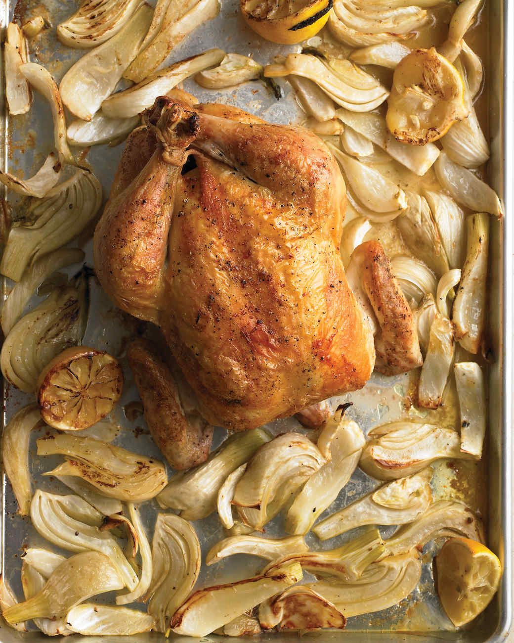 Roast Chicken with Lemons and Fennel