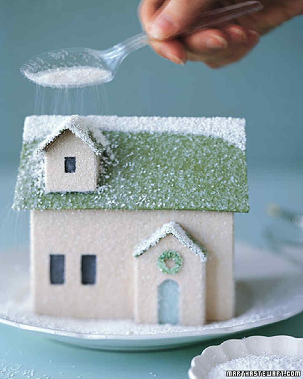 Winter Village: Homemade House | Martha Stewart