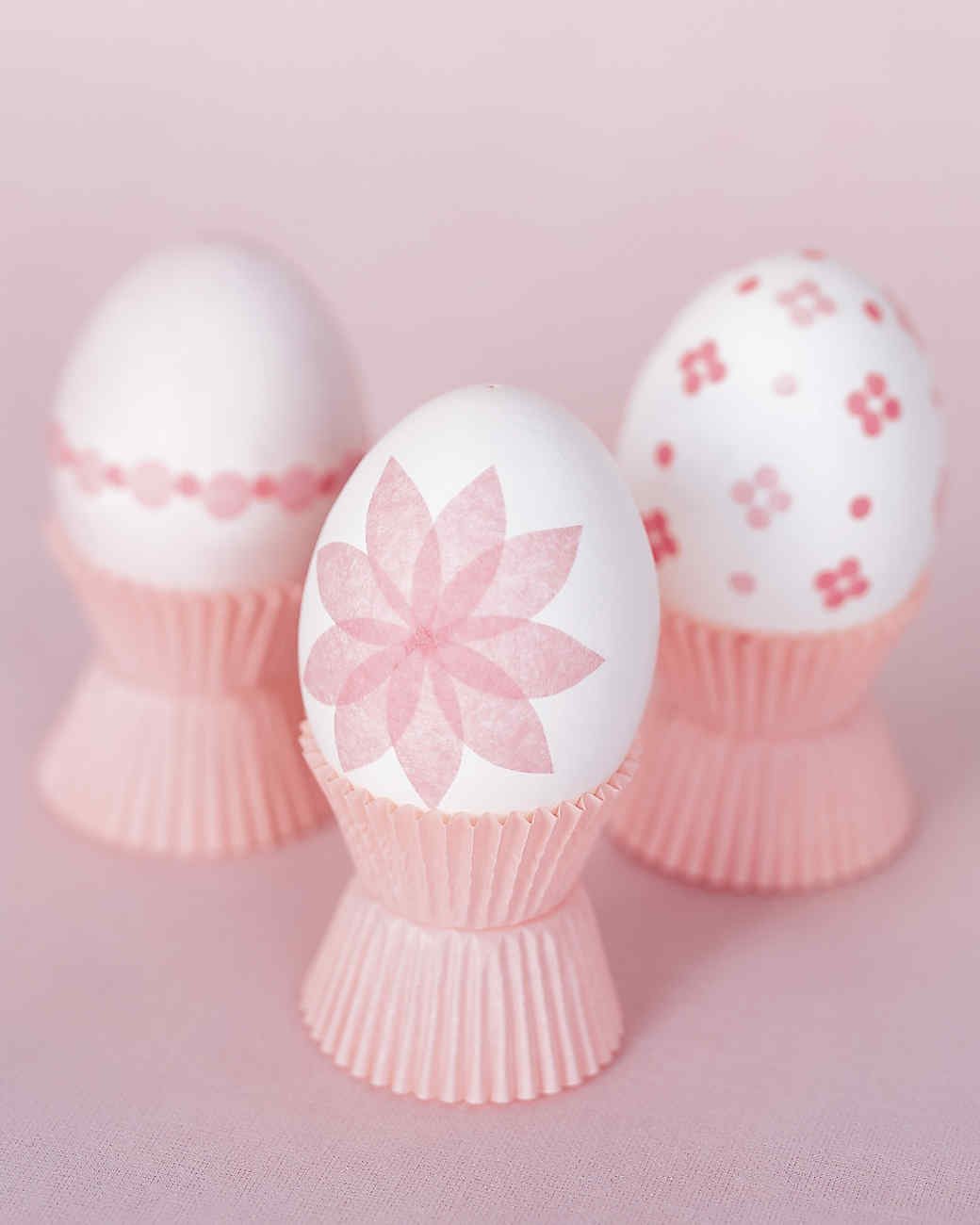 Tissue Paper Decorated Eggs