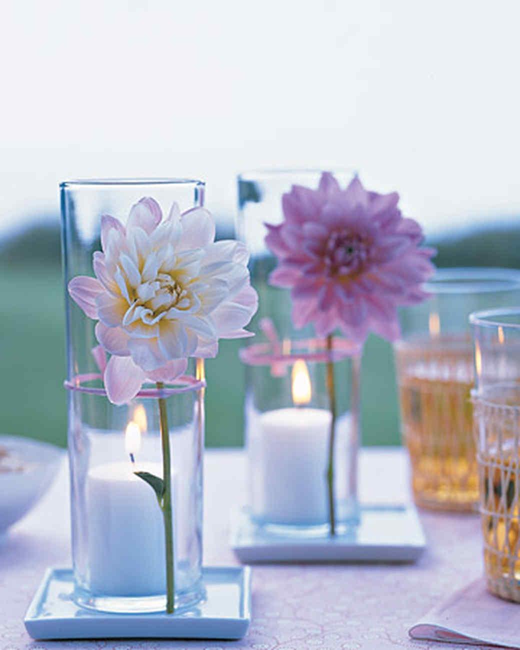 Flower Votive Centerpiece & Simple Baby Shower Centerpieces | Martha Stewart