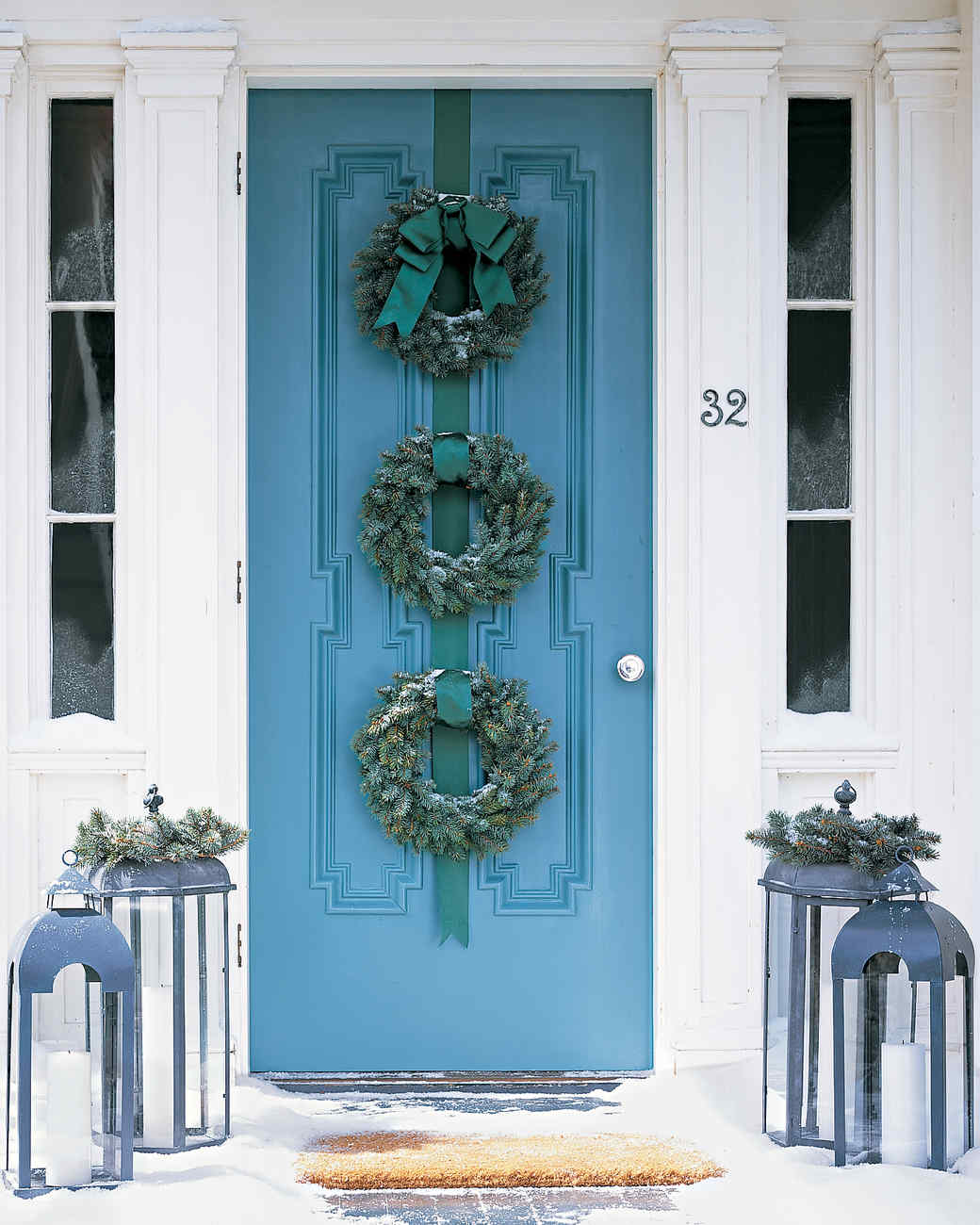 Blue Spruce Wreath Trio Martha Stewart