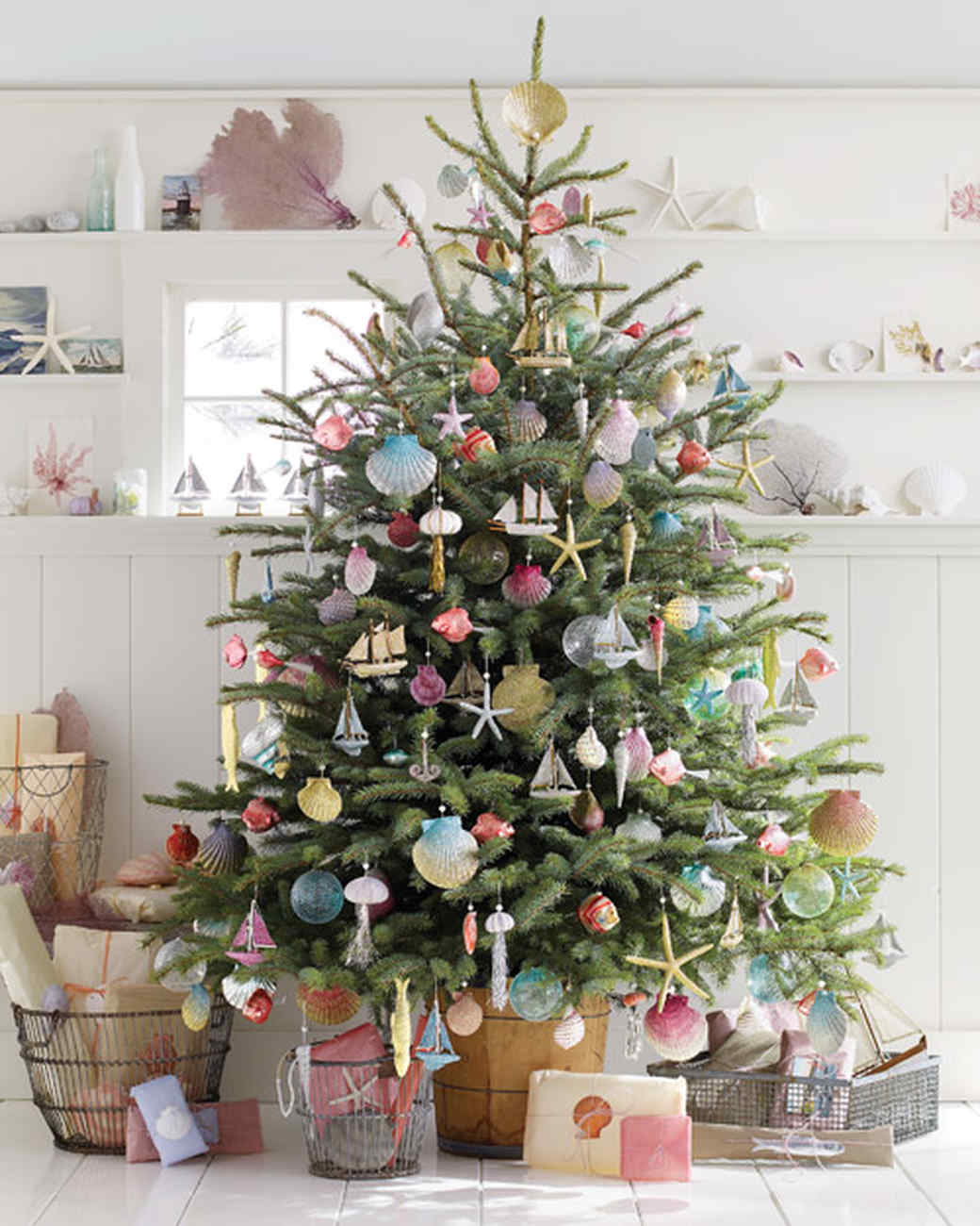 28 creative christmas tree decorating ideas martha stewart - Christmas Tree Branch Decorations