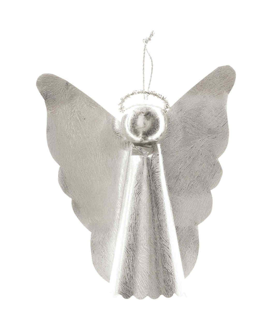 Silvery Angel Tree Toppers and Ornaments | Martha Stewart