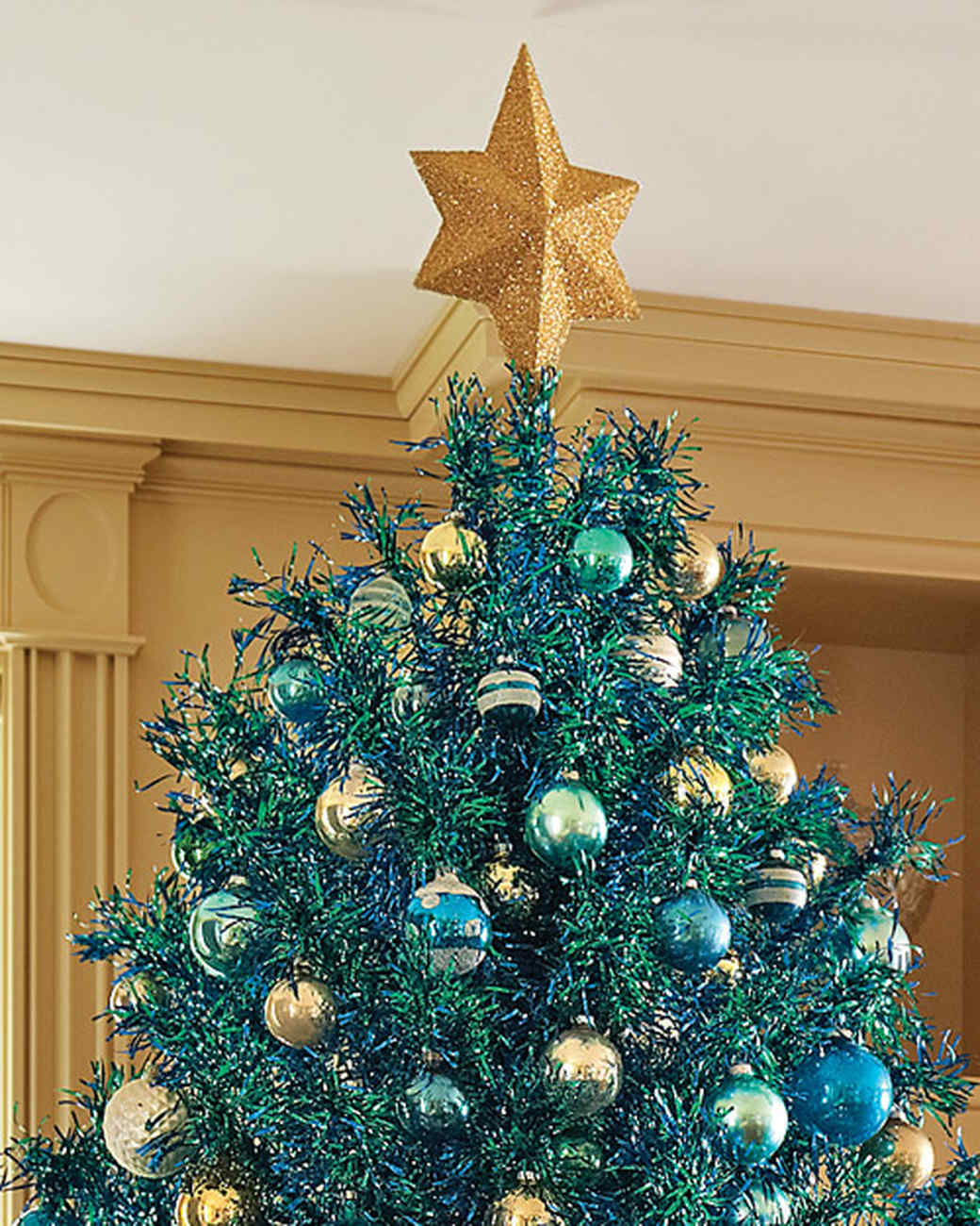 marthas glittered star tree topper martha stewart
