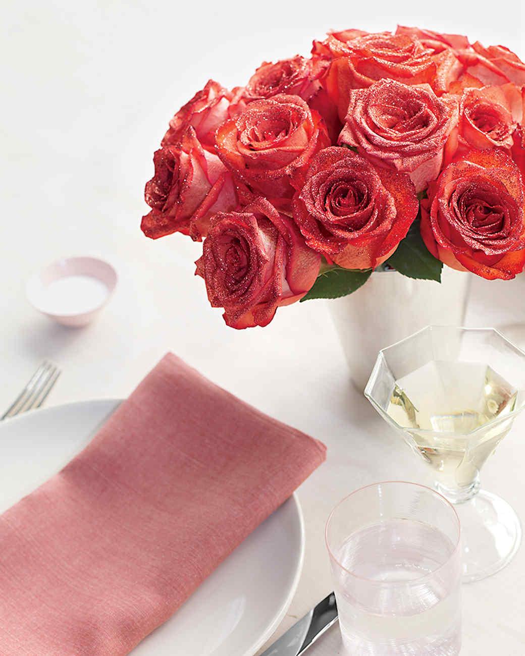 Sparkling Valentine\'s Day Centerpiece | Martha Stewart