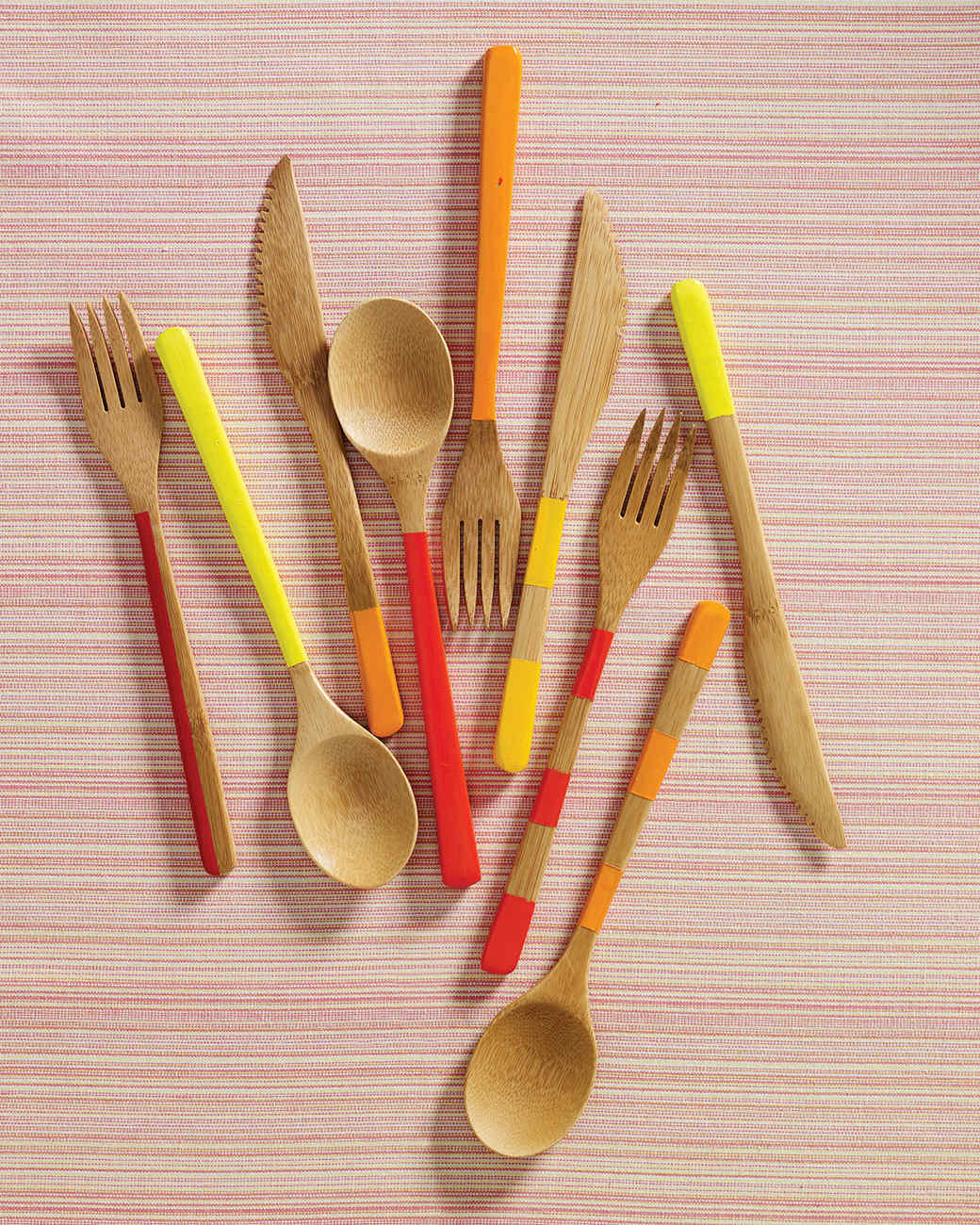 Painted Bamboo Cutlery