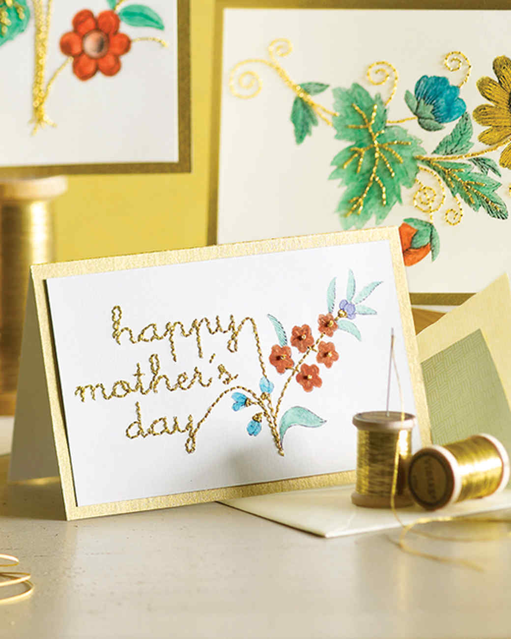 Beautiful Martha Stewart Card Making Ideas Part - 8: Motheru0027s Day Clip-Art Embroidery Cards