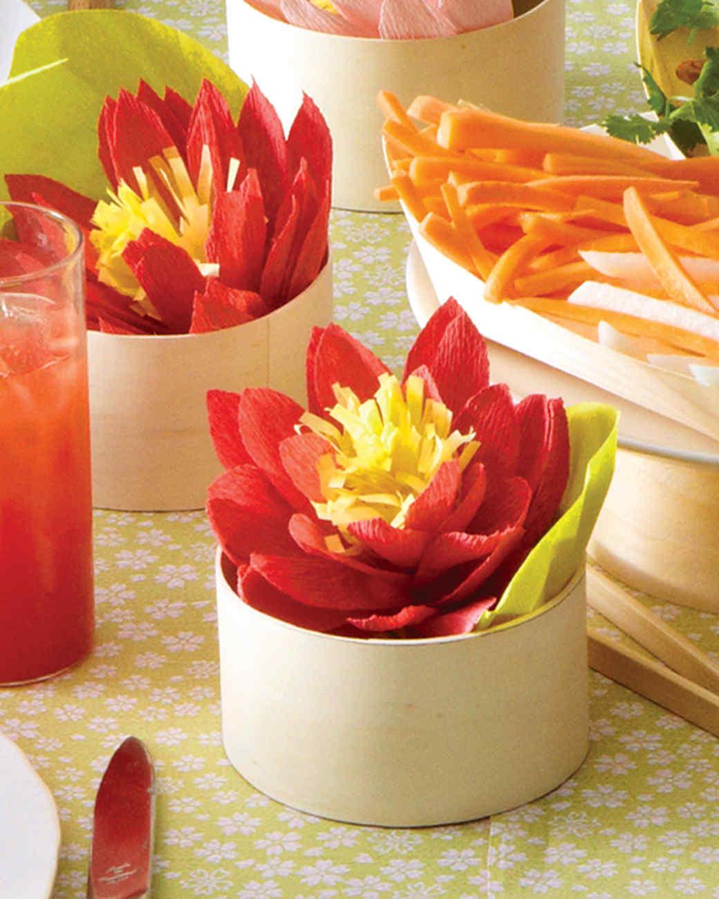 Crepe Paper Lotus Blossoms