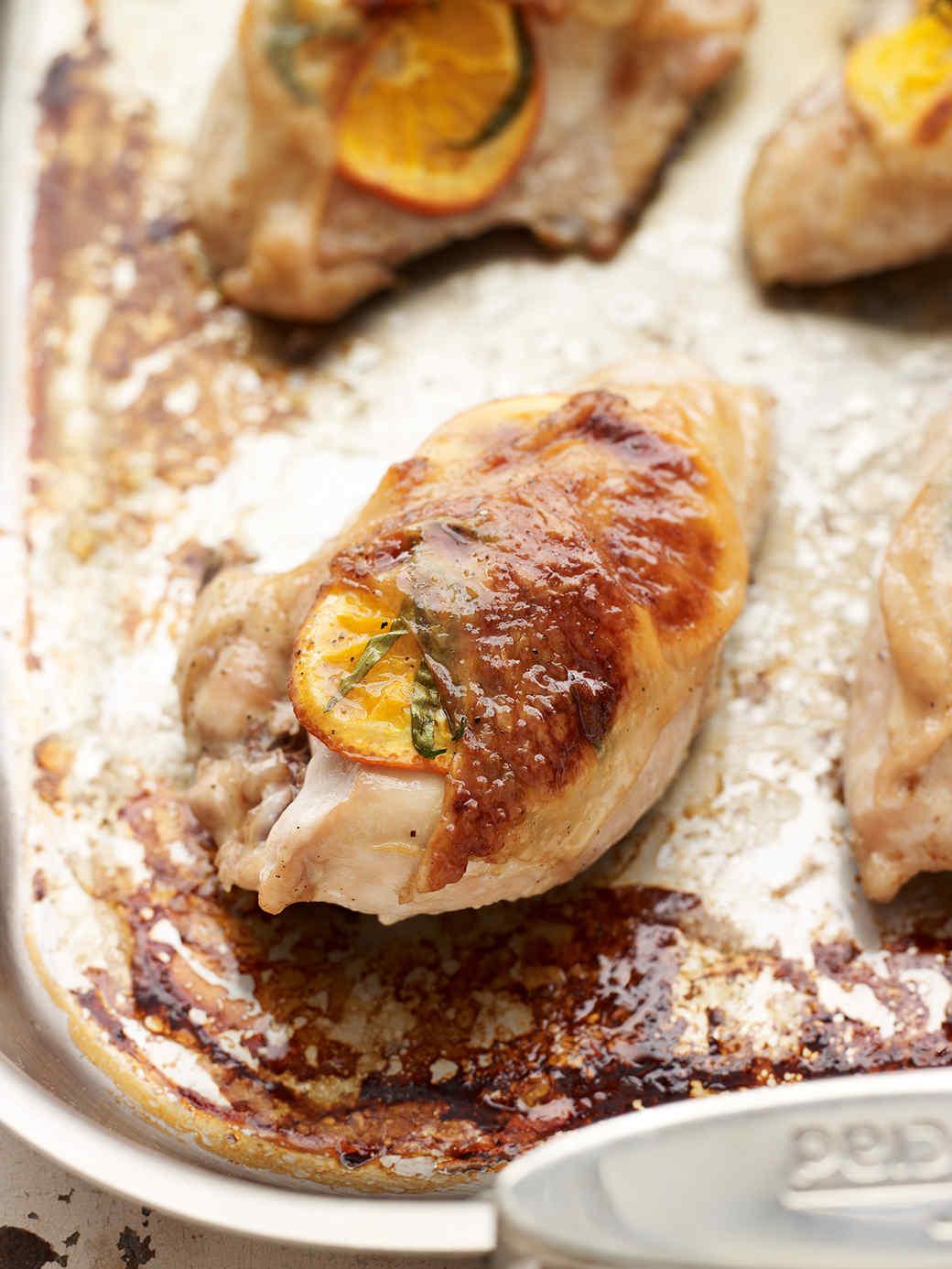 Tangelo-Stuffed Chicken Breasts