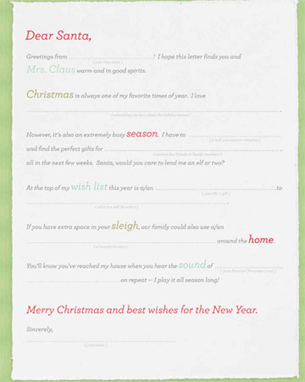 letters to santa martha stewart