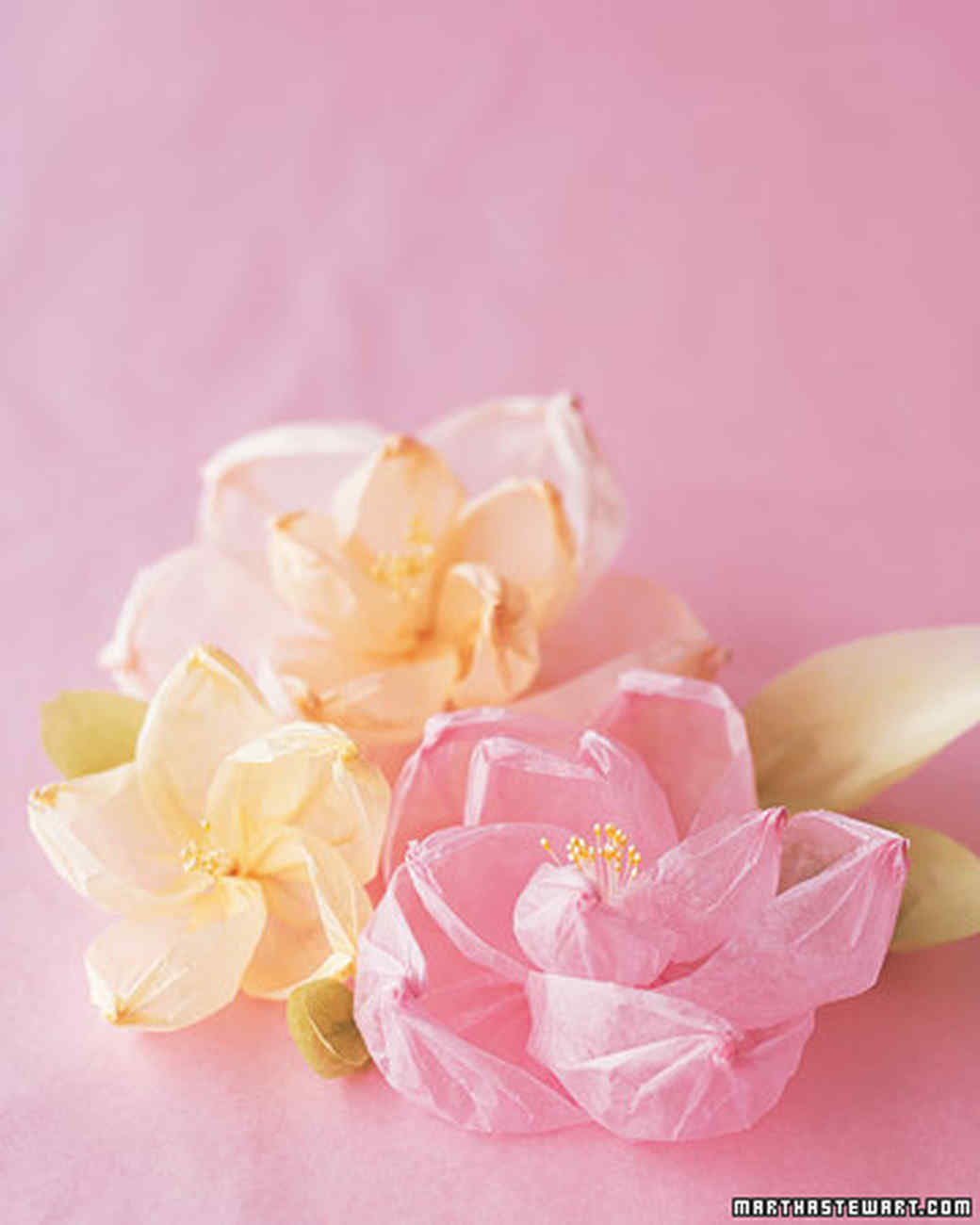 Paper flowers martha stewart shaped tissue paper flowers mightylinksfo