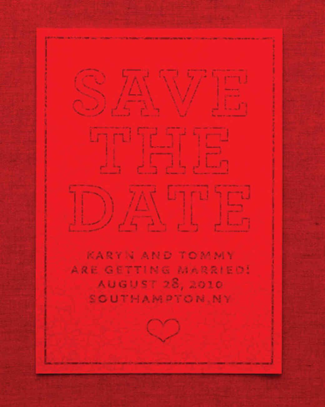 Encrypted Save-the-Date | Martha Stewart