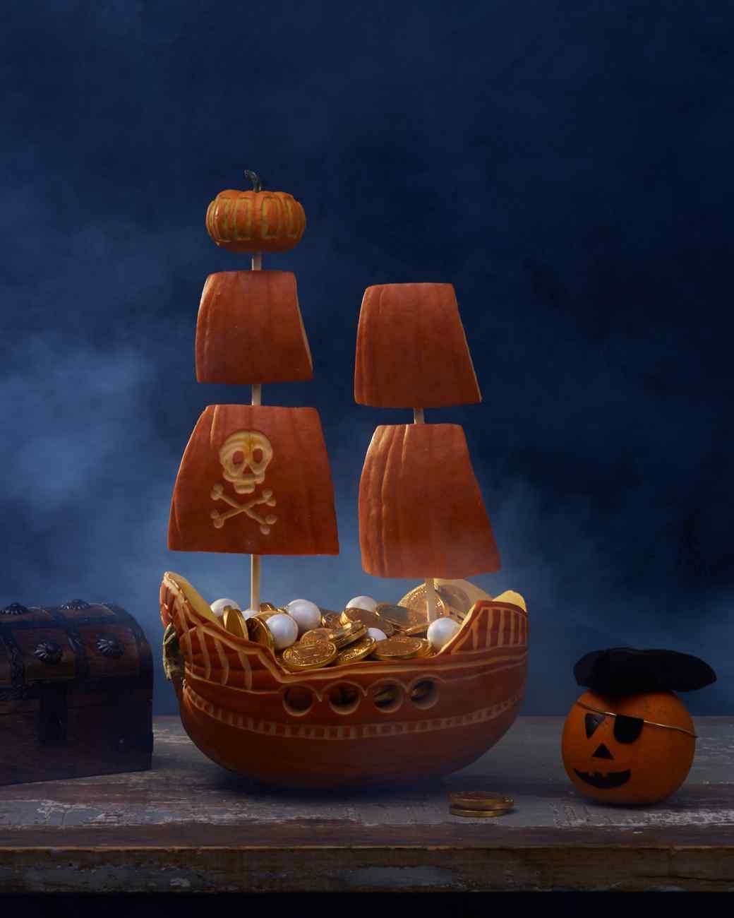 pirate ship pumpkin