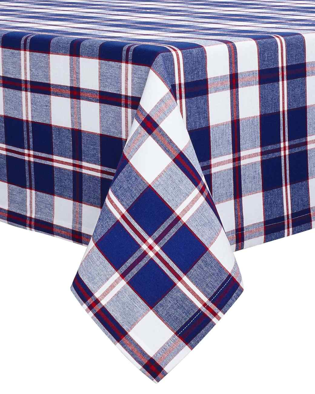 Sur la Table Red and Blue Plaid Tablecloth