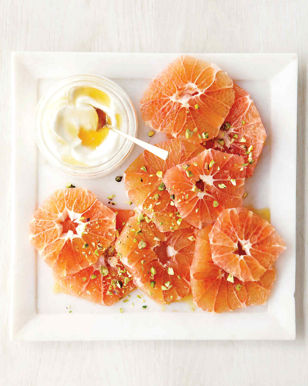 Pomelo with Yogurt and Pistachios