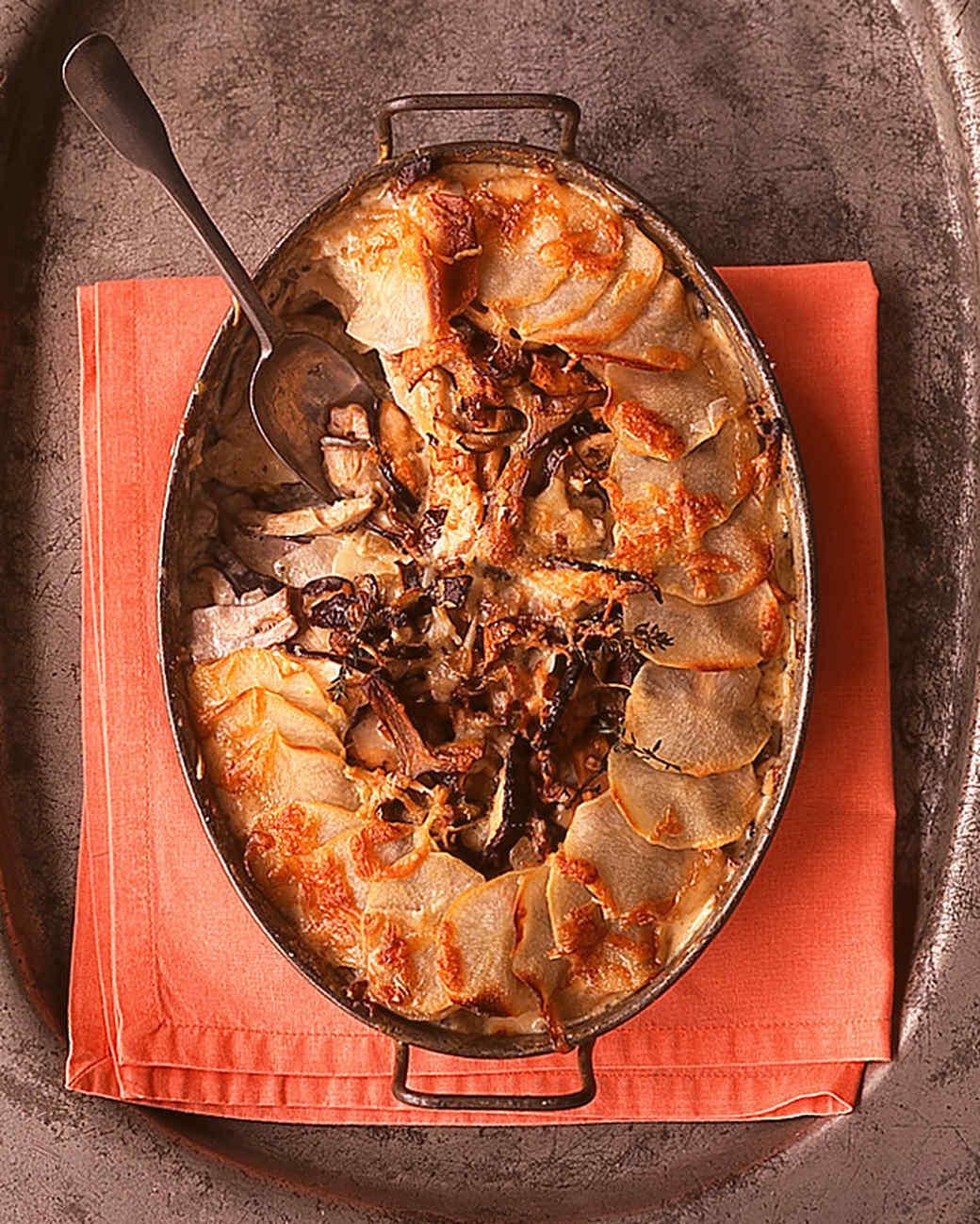 potato mushroom pie