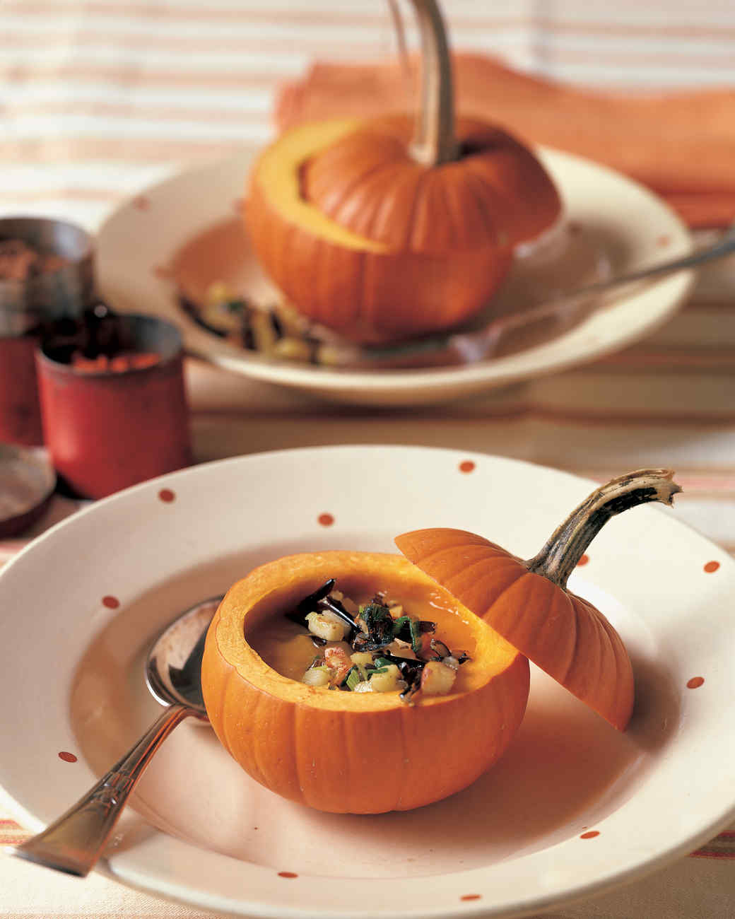 Pumpkin Soup with Wild Rice and Apples