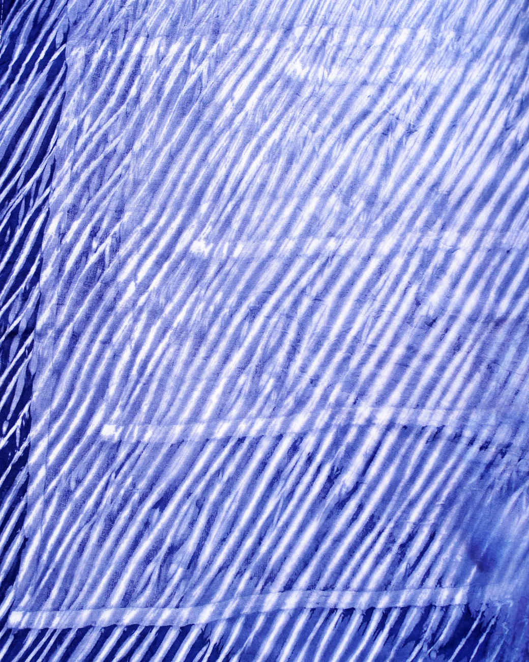 fabric with blue striated pattern