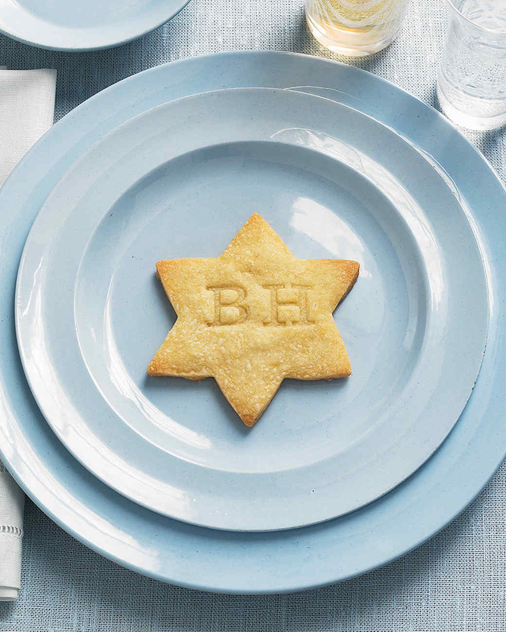 shortbread cookies stamp star