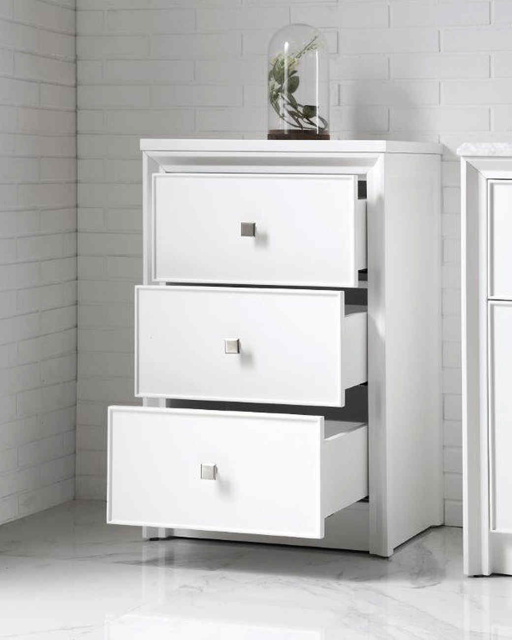 small white drawers