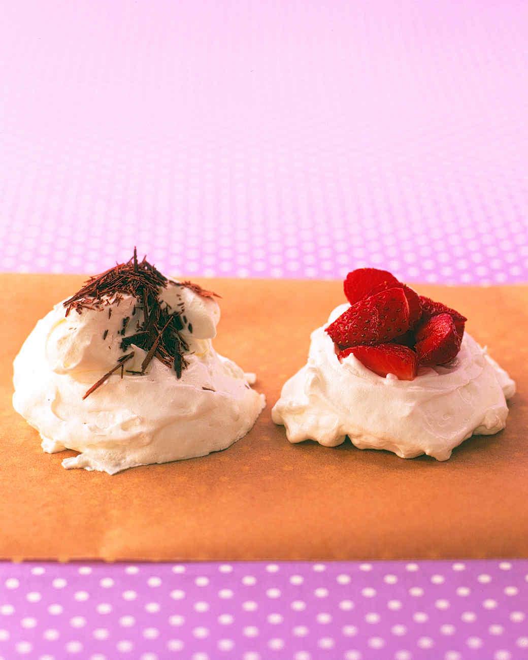 Strawberry Meringue Nests