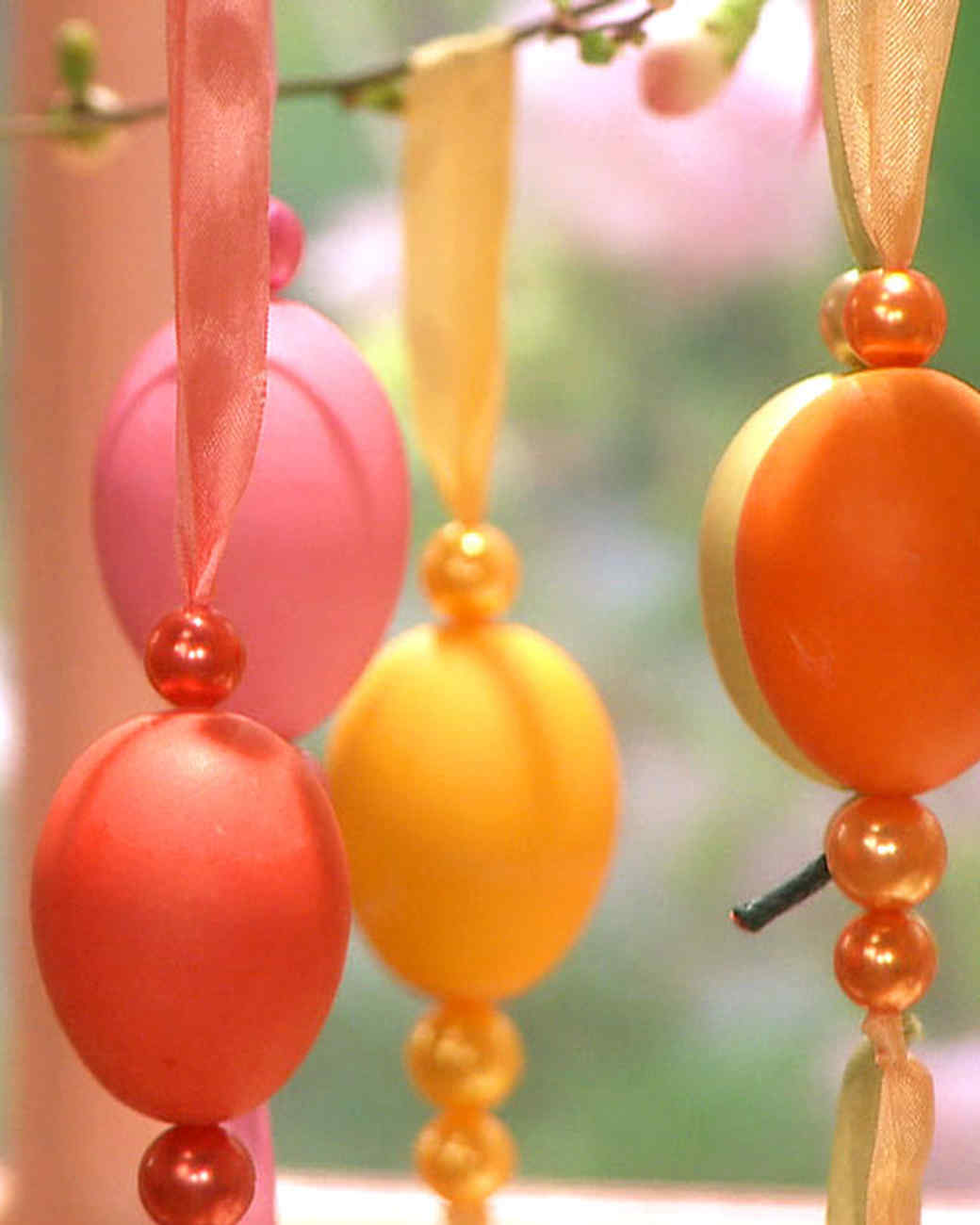 Ribbon Egg Ornaments