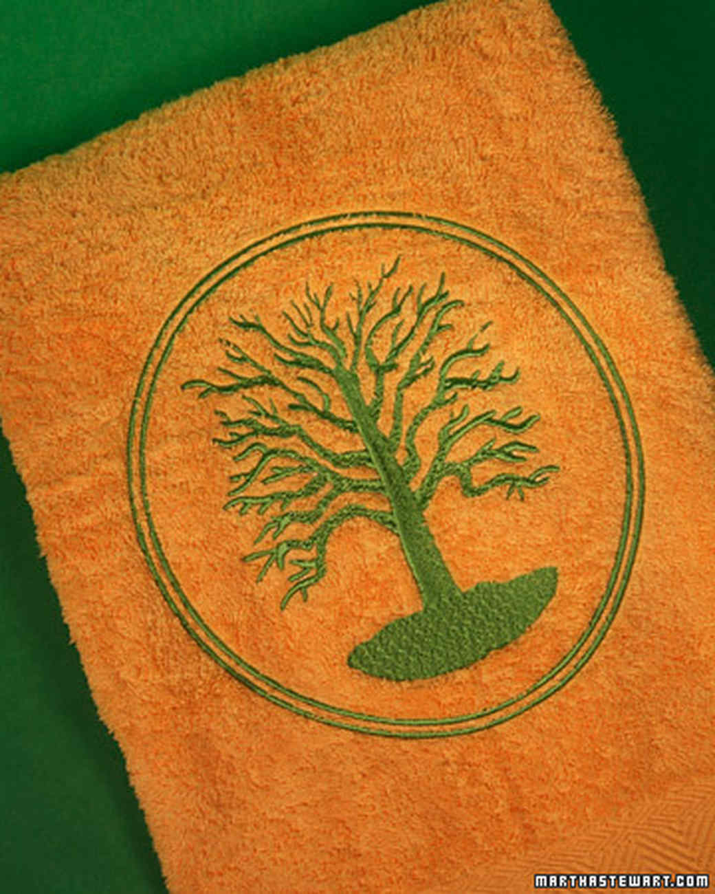 Embroidering Towels