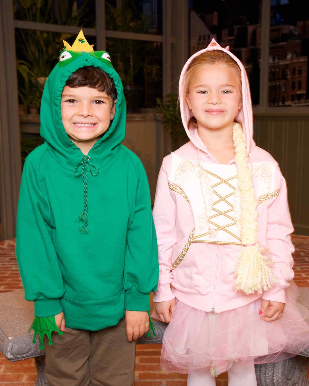 Hoodie Costumes: Frog Prince and Princess