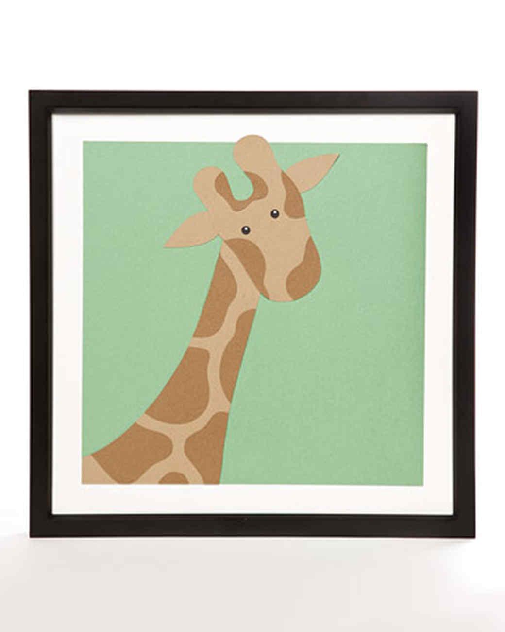 Giraffe Paper Wall Portrait